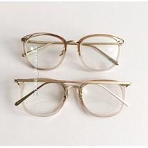 Armação de óculos de grau - DR quadrada - Dourado transparente