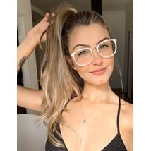 Armação de óculos de grau - DR quadrada - Madre pérola branca