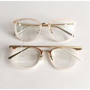 Armação de óculos de grau - DR quadrada - Rose