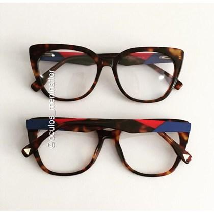Armação de óculos de grau - Duda - Animal print