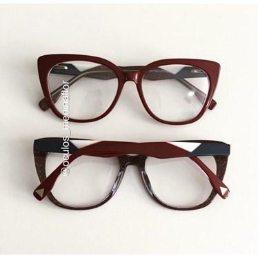 Armação de óculos de grau - Duda - Bordo