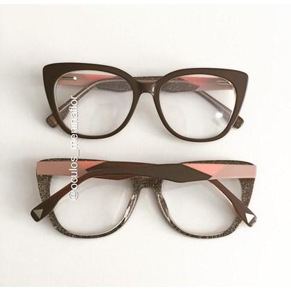 Armação de óculos de grau - Duda - Marrom
