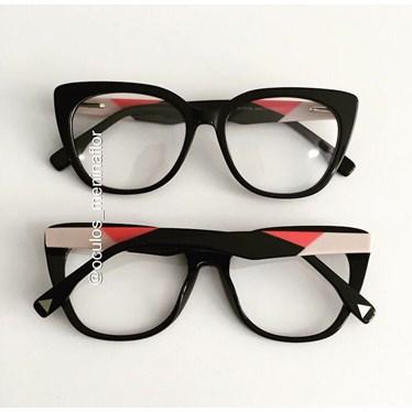Armação de óculos de grau - Duda - Preto