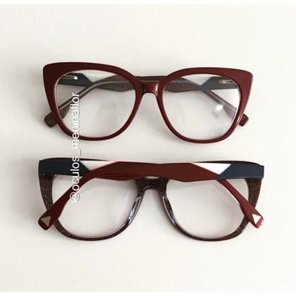 Armação de óculos de grau - Duda - Vinho