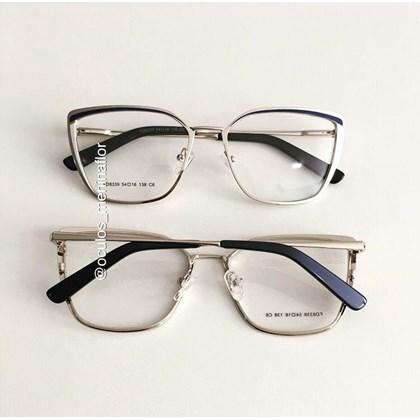 Armação de óculos de grau - Eduarda - Azul
