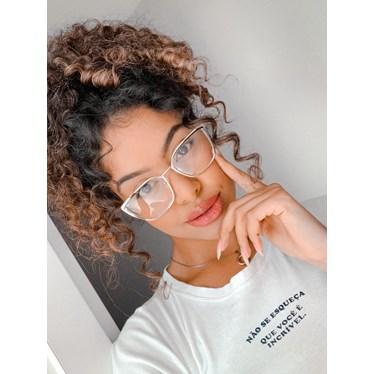 Armação de óculos de grau - Eduarda - Preto