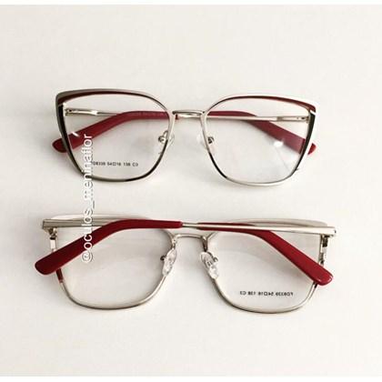 Armação de óculos de grau - Eduarda - Vinho