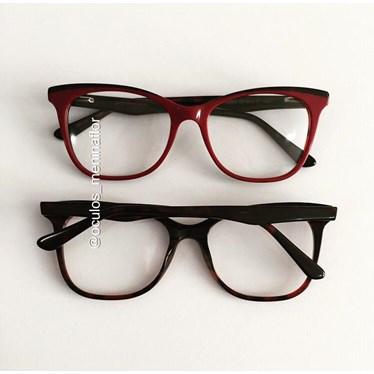 Armação de óculos de grau - Ella - Vinho
