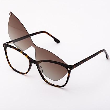 Armação de óculos de grau - Empoderada 25011 - Animal print lente marrom