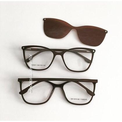 Armação de óculos de grau - Empoderada 25011 - Marrom