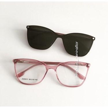 Armação de óculos de grau - Empoderada 25011 - Rose transparência