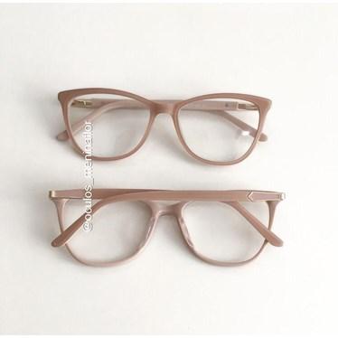Armação de óculos de grau - Ester - Nude Candy Claro