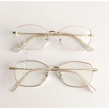 Armação de óculos de grau - Eva - Creme