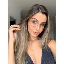Armação de óculos de grau - Eva - Marrom