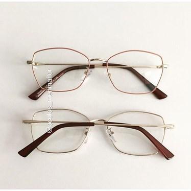 Armação de óculos de grau - Eva - Nude
