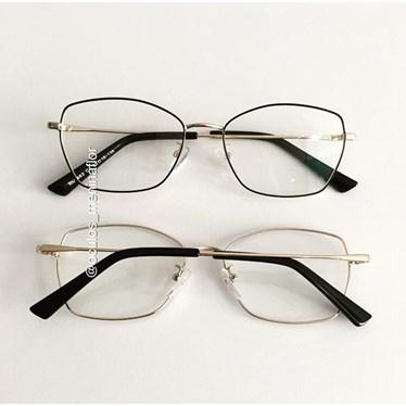 Armação de óculos de grau - Eva - Preto