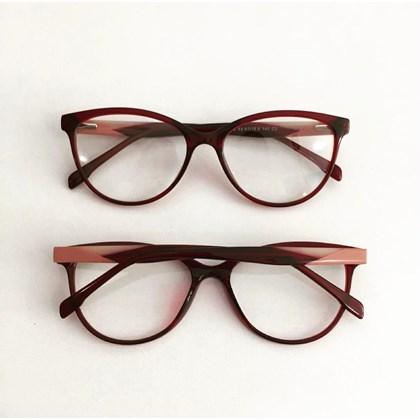 Armação de óculos de grau - Evelyn 3762 - Bordo
