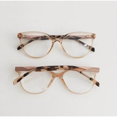 Armação de óculos de grau - Evelyn 3762 - Dourado transparente