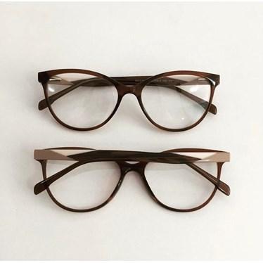 Armação de óculos de grau - Evelyn 3762 - Marrom