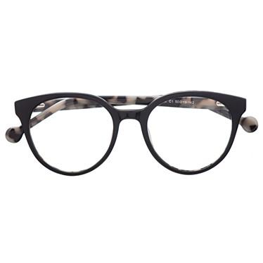 Armação de óculos de grau - Fada 2.0 - Preto fundo animal print