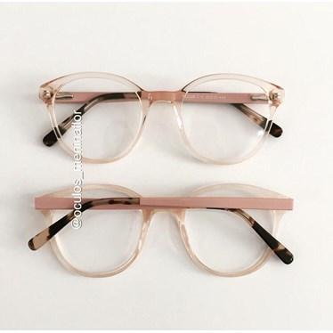 Armação de óculos de grau - Fada - Dourado transparente