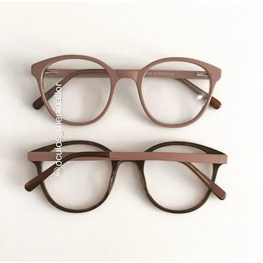 Armação de óculos de grau - Fada - Nude chocolate