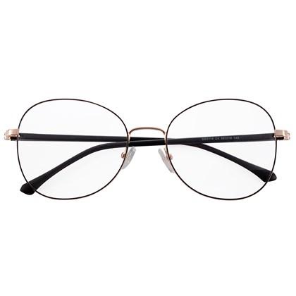 Armação de óculos de grau - Farfalla - Preto com dourado