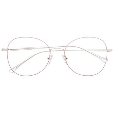 Armação de óculos de grau - Farfalla - Rose com prata