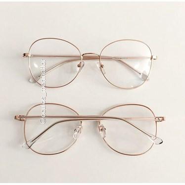 Armação de óculos de grau - Farfalla - Rose gold
