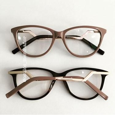 Armação de óculos de grau - FDMF - nude chocolate