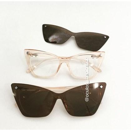 Armação de óculos de grau feminino - Girl Pop 9017 - Rose transparência lente marrom