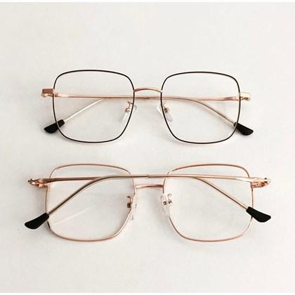 Armação de óculos de grau - Flay Quadrado 2170 - Preto com dourado