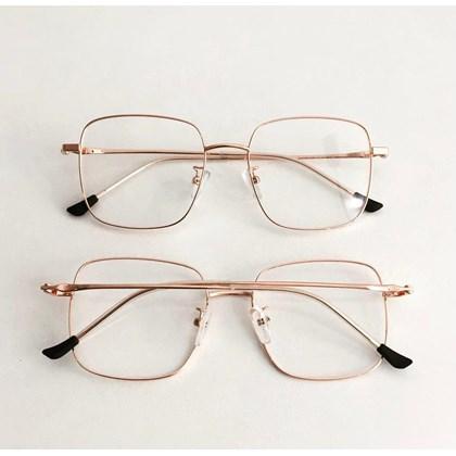 Armação de óculos de grau - Flay Quadrado 2170 - Rose Gold