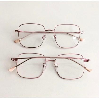 Armação de óculos de grau - Flay Quadrado 2170 - Rose Metálico