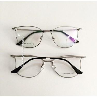 Armação de óculos de grau - Frida - Prata