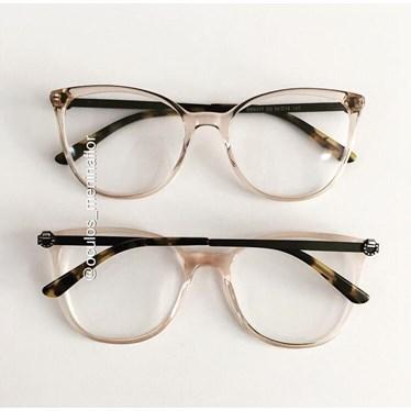 Armação de óculos de grau - Gabrielli - Dourado transparente