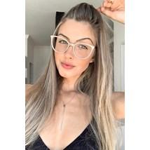 Armação de óculos de grau - Gabrielli - Nude chocolate