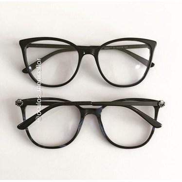 Armação de óculos de grau - Gabrielli - Preto fundo azul