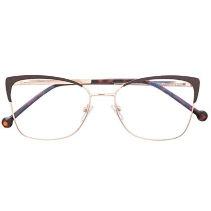 Armação de óculos de grau - Garfield 2.0 - Marrom haste animal print