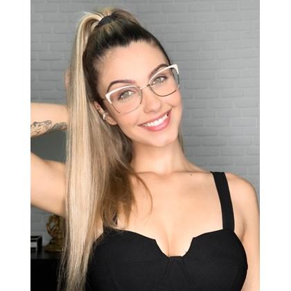Armação de óculos de grau - Garfield 718 - Creme
