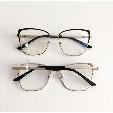 Armação de óculos de grau -  Garfield 904 - Preto com dourado