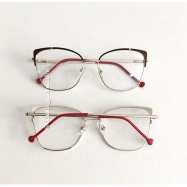 Armação de óculos de grau- Garfield Bicolor - Bordo com preto C6