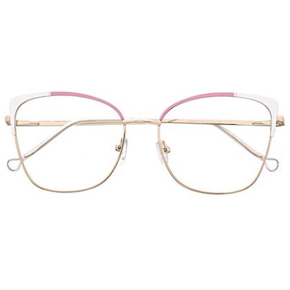 Armação de óculos de grau- Garfield Bicolor - Branco com rosa C5