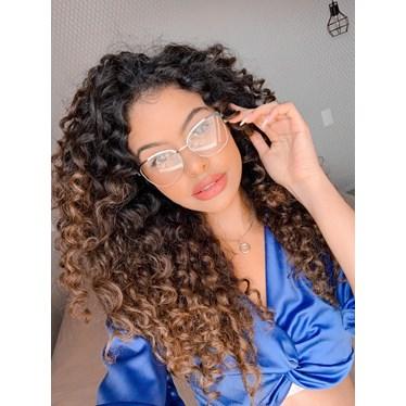 Armação de óculos de grau- Garfield Bicolor - Preto com branco