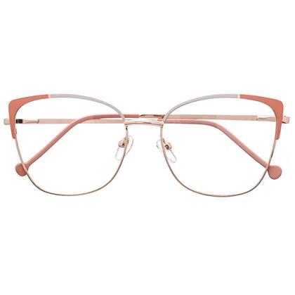 Armação de óculos de grau - Garfield Bicolor - Salmão com cinza C1