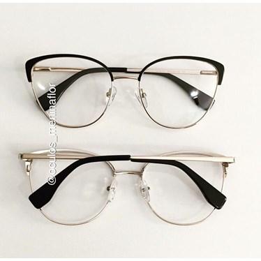 Armação de óculos de grau - Garfield - Preto com dourado