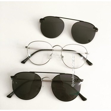 Armação de óculos de grau - Good Girl - Prata