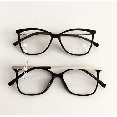 Armação de óculos de grau - Graziela - Preto