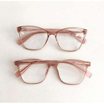 Armação de óculos de grau - Jade 3684 - Rose transparência