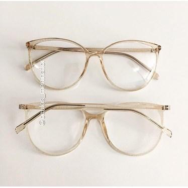 Armação de óculos de grau - Jasmine - Dourado Glow